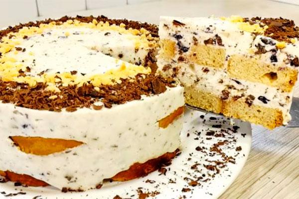 Торт «Березка» без печенья и выпечки