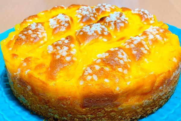 Вкуснейший пирог с заварным кремом: весы не понадобятся