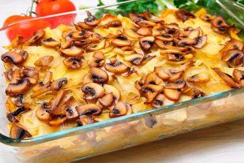 Готовим в духовке: картофель, запеченный с грибами