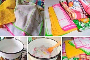 Экономичный и работающий способ отстирать кухонные полотенца