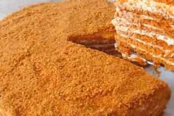 Нежный медовый торт со вкусным кремом