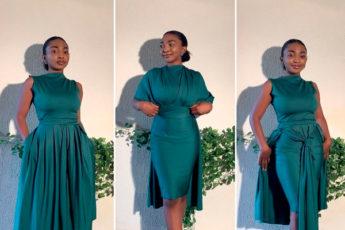 Модельер из Нигерии стал знаменитостью, благодаря своим платьям-трансформерам