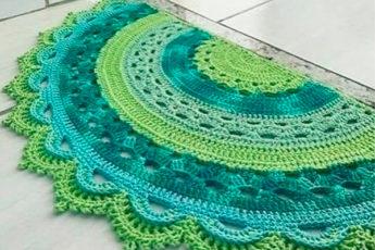 Вяжем придверные коврики