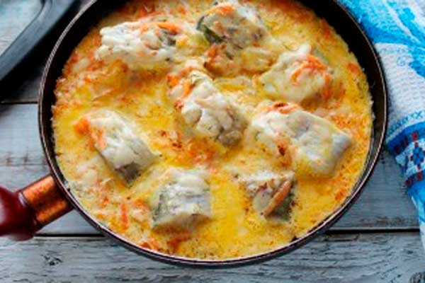 Минтай в сметанном соусе— лучшее рыбное блюдо! Просто и безумно вкусно!