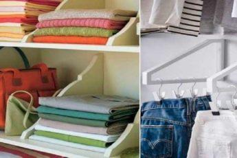 22 очумелых примера, как складывать вещи в шкафу…