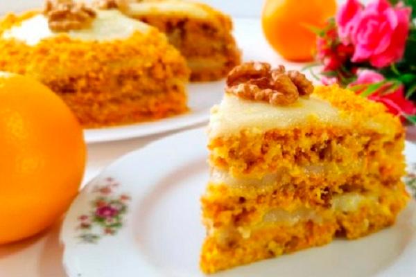 Лёгкий морковный торт без яиц и молока с нежнейшим ароматным кремом!