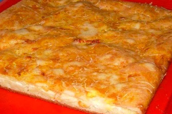 Наливной пирог с сыром. Очень просто и вкусно