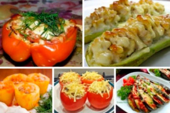 5 рецептов фаршированных овощей на любой вкус
