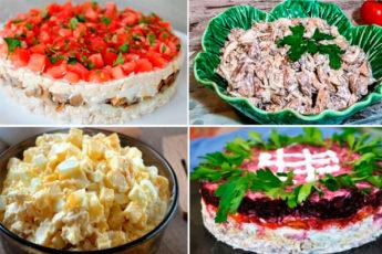 4 замечательных салата на праздничный стол