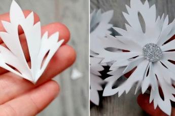 Самый простой и быстрый способ сделать объемную снежинку из фоамирана