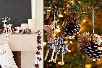 Чудесные идеи использования еловых шишек для создание новогоднего декора