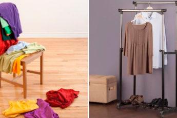 8 идей, где можно хранить ношенную одежду, чтобы не сбрасывать ее на стул