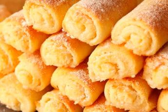 Творожное печенье трубочки с начинкой. Вкусно, быстро и просто