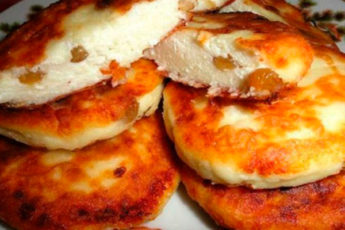 Тающие сырнички с изюмом. Мой любимый рецепт!
