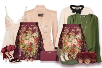 Как можно носить юбку с цветочным принтом