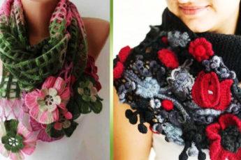 Весна в шарфах и снудах! Девочки, это шедеврально! Срочно вдохновляемся и вяжем