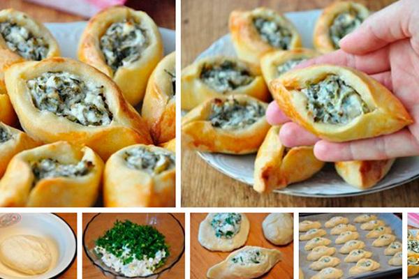 Восточные пирожки с сыром фета