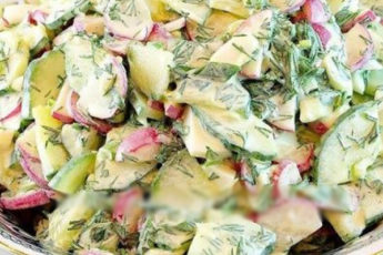 Весенний салат с редисом: заряд бодрости и витаминов