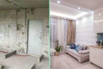 Чудесное превращение квартиры 32 кв. м: стильно, уютно, функционально
