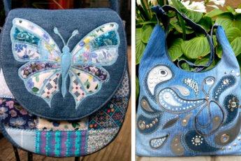 Идеи сумочек из джинсовой ткани