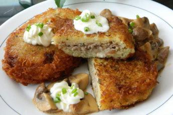 Картофельные колдуны с мясом