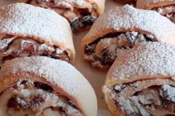 Печенье с начинкой из орехов и изюма. Вкусная выпечка к чаю