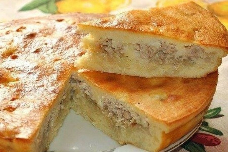 Рецепт нежного заливного пирога с курицей