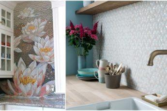 Радость для глаз: несколько идей красивой мозаики для кухни