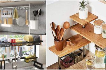 Сэкономьте место и избавьтесь от беспорядка на кухне с помощью простых идей по организации пространства