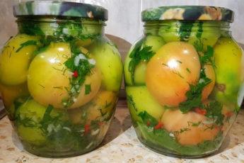 Зеленые помидоры по-кавказски, которые понравятся всем