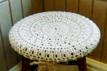 Чехол для сиденья табурета крючком