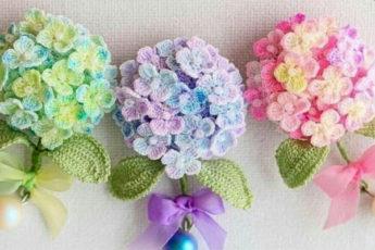 Миниатюрные вязаные цветочки