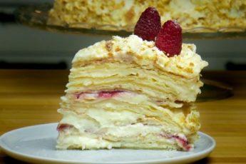 Рецепт домашнего торта «Наполеон», получается даже если у вас совсем нет опыта