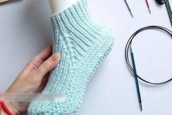 Красивые носки резинкой