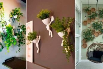 Красивые варианты вертикального озеленения для небольших комнат