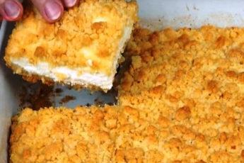 Потрясающий «Пирог царский» с творогом: любители творожной выпечки оценят