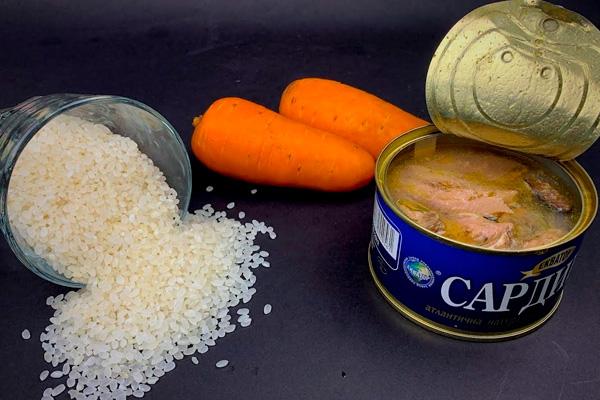 Берем консервы и рис. Готовим обалденнное блюдо к ужину!