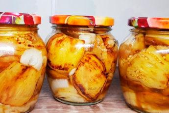 Баклажаны, как шашлык! Вкусная консервация на зиму. Зимой съели 20 банок, теперь готовлю больше!