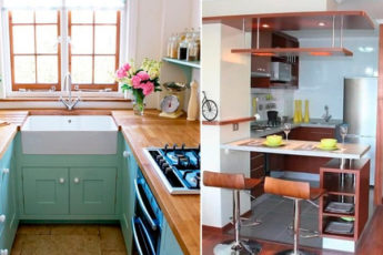 Сохранение квадратных метров: 17 компактных и уютных кухонь