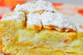 Кремовый пирог с яблоками: ему нет равных