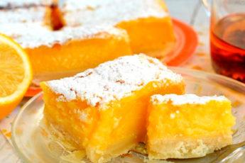 Лимонные пирожные с песочной основой