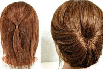 Просто сделать себе за минуту: элегантная причёска на короткие волосы