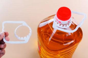 Оригинальное применение ручки от пластиковых бутылок
