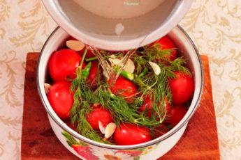 Квашеные помидоры в кастрюле: моя бабуля готовит их только так. Вкусные и ароматные!