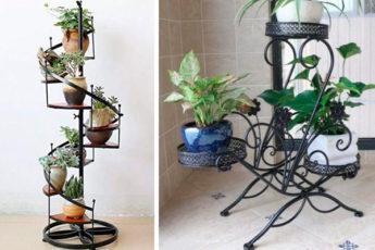 Оригинальные подставки для растений